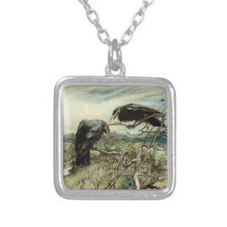 Two Ravens Illustration Necklaces
