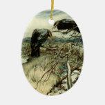 Two Ravens Ornaments