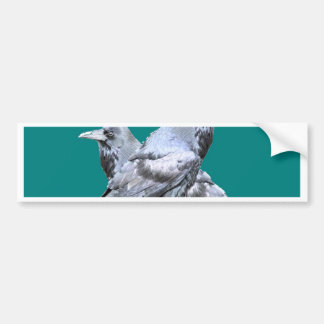 Two Ravens teal Gifts Bumper Sticker