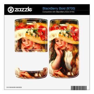 Two reading girls in a garden by Pierre Renoir BlackBerry Bold 9700 Skin
