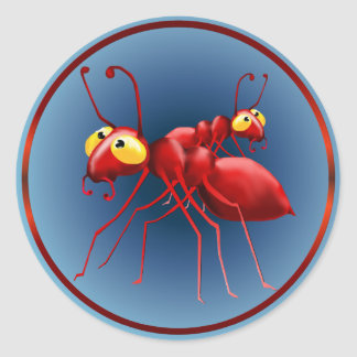 Two Red Ants Sticker