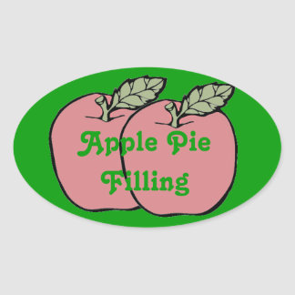 Two Red Apples Apple Pie Filling in Jar Can Label Stickers