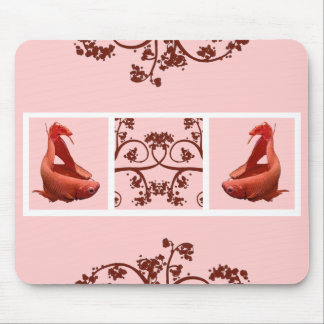 Two Red Bettas Filmstrip Mouse Pad