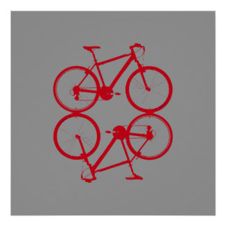 two red bikes print