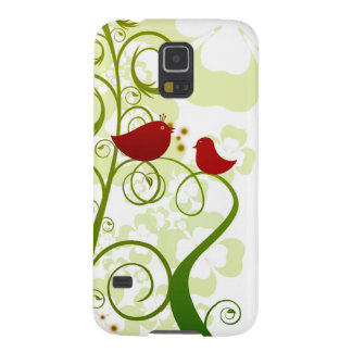 Two red birds in a tree Samsung Galaxy S5 case. Galaxy S5 Case