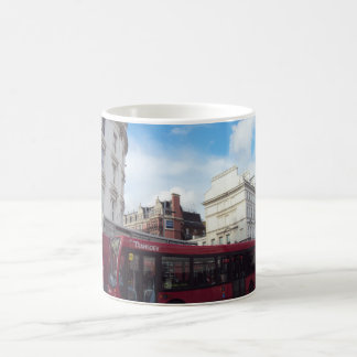 Two Red Buses Neck-To-Neck Classic White Coffee Mug
