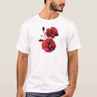 Two Red Carnations with Buds Mens T-Shirt