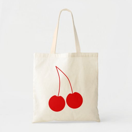 Two Red Cherries. Bags