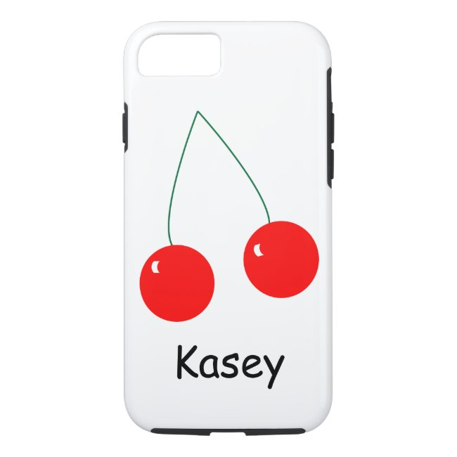 Two Red Cherries Personalize