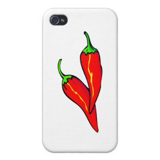Two Red Chili Peppers on Side iPhone 4 Cover
