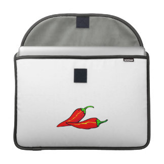 Two Red Chili Peppers on Side Sleeve For MacBooks