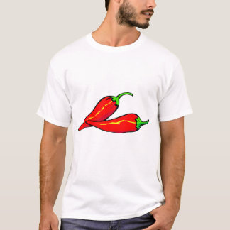 Two Red Chili Peppers on Side T-Shirt