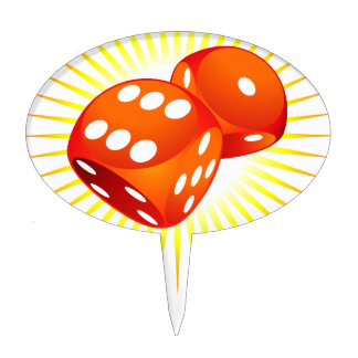 Two red dices. cake topper
