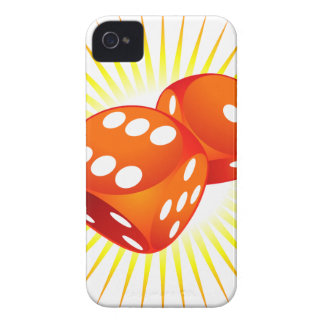 Two red dices. iPhone 4 Case-Mate case