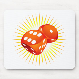 Two red dices. mouse pad