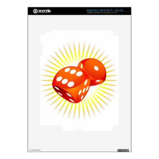 Two red dices. skins for iPad 3