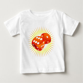 Two red dices. t-shirt
