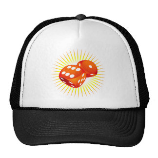 Two red dices. trucker hat