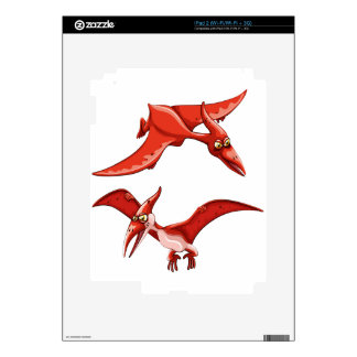 Two red flying dinosaurs iPad 2 skin