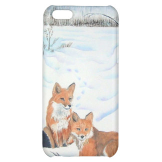 Two Red Foxes Cover For iPhone 5C