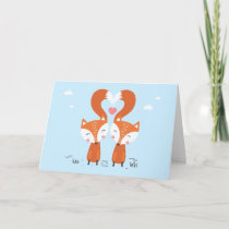 Two Red Foxes Holiday Card