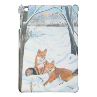 Two Red Foxes iPad Mini Cases