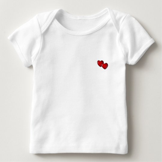 Two Red Hearts Baby T-Shirt