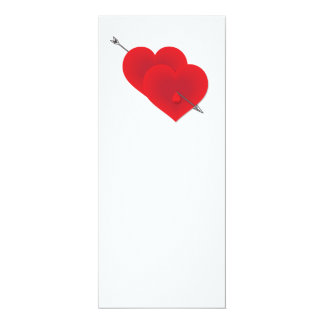 Two red hearts card
