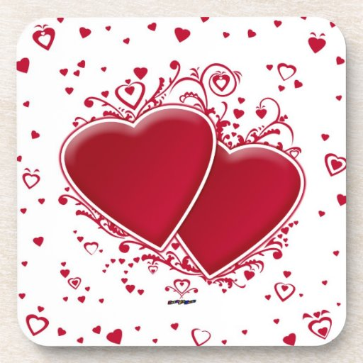 Two Red Hearts Coaster