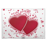 Two Red Hearts For Valentine's Day Cloth Placemat