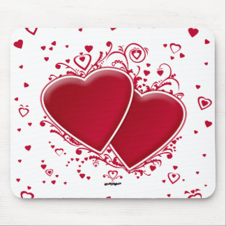 Two Red Hearts For Valentine's Day Mouse Pad