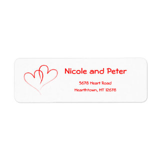 Two Red Hearts Label