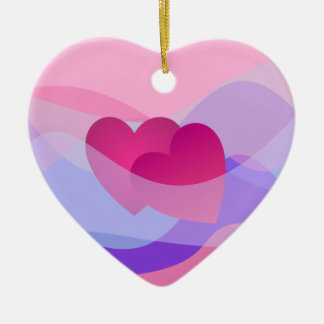 Two Red Hearts Ornament