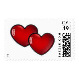 Two Red Hearts Postage