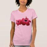 Two Red Hibiscus Ladies T Shirt