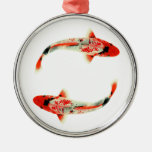 Two Red Koi Metal Ornament