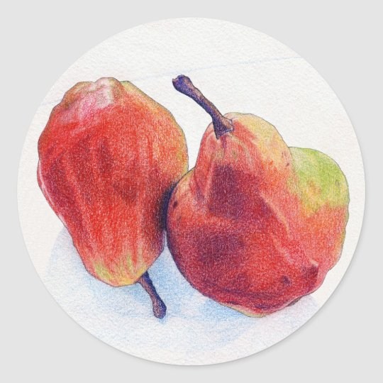 Two Red Pears 2 Sticker