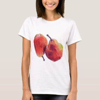 Two Red Pears Ladies T-shirt