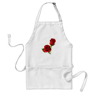 Two Red Roses Apron
