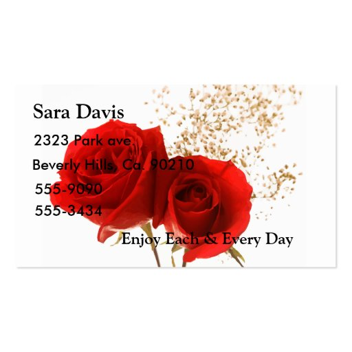 Two Red Roses Business Card Templates