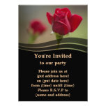 Two Red Roses Custom Invite