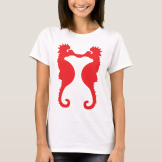 two red sea horses icon T-Shirt