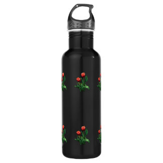 Two Red Tulips 24oz Water Bottle