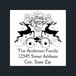 """Two Reindeer Christmas - Self Inking Address Stamp<br><div class=""""desc"""">Two Reindeer - Self Inking Address Stamp</div>"""