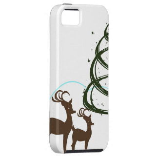 Two Reindeer Grazing Christmas iPhone SE/5/5s Case