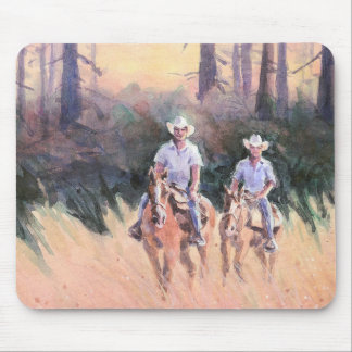 TWO RIDERS by SHARON SHARPE Mousepad