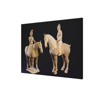 Two Riders, Chinese, Tang dynasty (618-906) (terra Gallery Wrapped Canvas