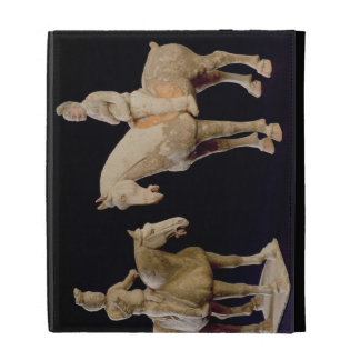 Two Riders, Chinese, Tang dynasty (618-906) (terra iPad Folio Case