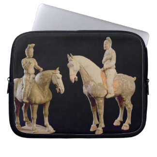 Two Riders, Chinese, Tang dynasty (618-906) (terra Laptop Sleeve