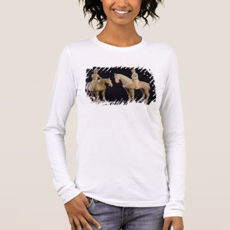 Two Riders, Chinese, Tang dynasty (618-906) (terra Long Sleeve T-Shirt